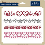 Swirly Love Heart Borders