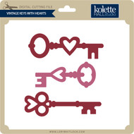 Vintage Keys With Hearts