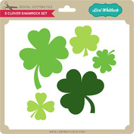 5 Clover Shamrock Set