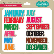 12 Months Cards