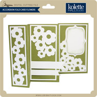 Accordion Fold Card Flowers