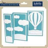 Accordion Fold Card Hot Air Balloon