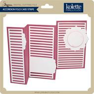 Accordion Fold Card Stripe