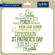 St. Patrick's Day Word List