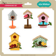 5 Birdhouse Set