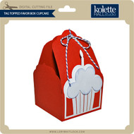 Tag Topped Favor Box Cupcake