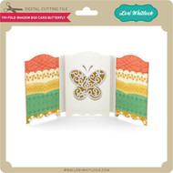 Tri-Fold Shadow Box Card Butterfly