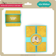 Hidden Box Gatefold Card Baby