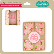 Hidden Box Gatefold Card Baby Girl