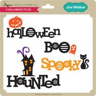 4 Halloween Titles