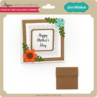 Stand Up Card Scalloped Flowers