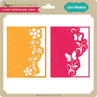 2 Fancy Border Edge Cards Butterfly