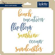 Beach Script Words