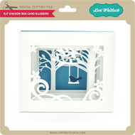 5x7 Shadow Box Card Bluebird