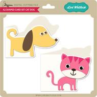 A2 Shaped Card Set Cat Dog