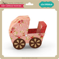 3D Baby Carriage Favor Box