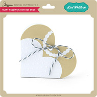 Heart Wedding Favor Box Bride