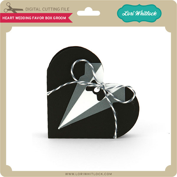 Wedding Gift Box For Groom : Heart Wedding Favor Box Groom - Lori Whitlocks SVG Shop