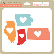State Love il in ia ks