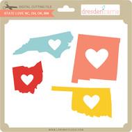 State Love nc oh ok nm