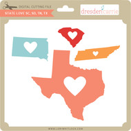 State Love sc sd tn tx