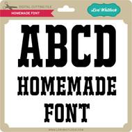 Homemade Font