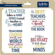 4 Teacher Phrases