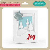 A2 Winter Scene Pop Dot Card