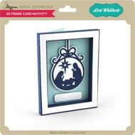 3D Frame Card Nativity
