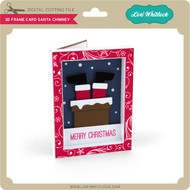 3D Frame Card Santa Chimney