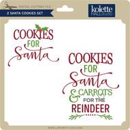 2 Santa Cookies Set
