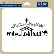 All Is Bright Nativity Scene