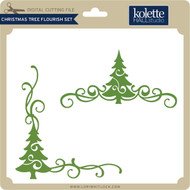 Christmas Tree Flourish Set