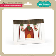 A2 Fireplace Pop Dot Card