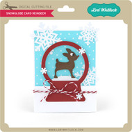 A2 Snowglobe Card Reindeer