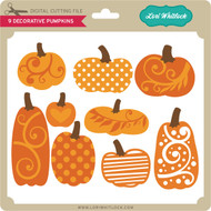 9 Decorative Pumpkins