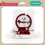 A2 Snowglobe Card Snowman