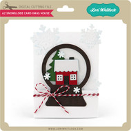 A2 Snowglobe Card Xmas House