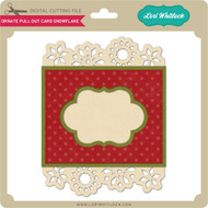 Ornate Pull Out Card Snowflake