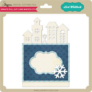Ornate Pull Out Card Winter City