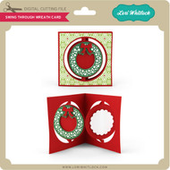 Swing Through Wreath Card