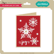 A2 Snowflake Joy Card