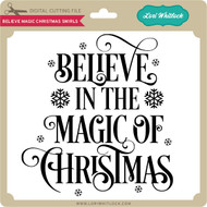 Believe Magic Christmas Swirls