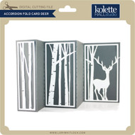 Accordion Fold Card Deer
