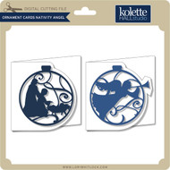 Ornament Cards Nativity Angel
