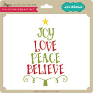 Joy Love Peace Believe Tree