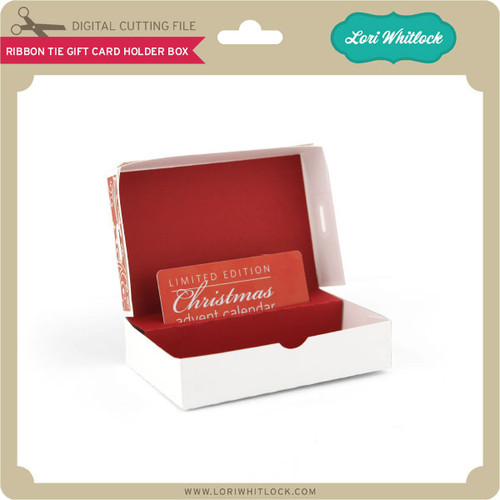 Ribbon tie gift card holder box lori whitlocks svg shop ribbon tie gift card holder box 199 image 1 negle Choice Image