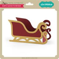Santa Sleigh Favor Box