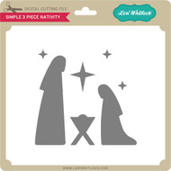 Simple 3 Piece Nativity