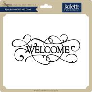 Flourish Word Welcome